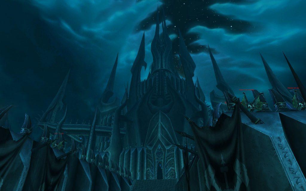 La Ciudadela de la Corona de Hielo desde afuera