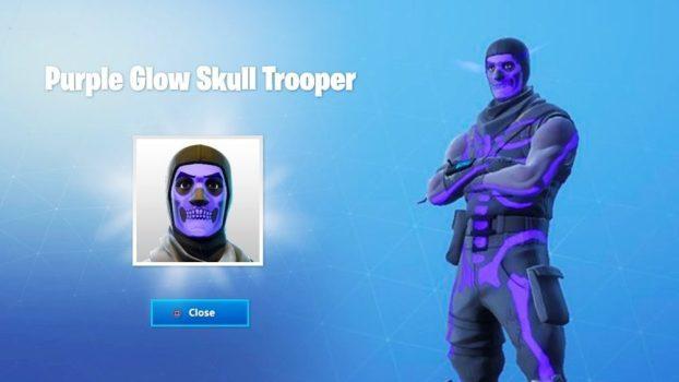 8. Purple Glow Skull Trooper
