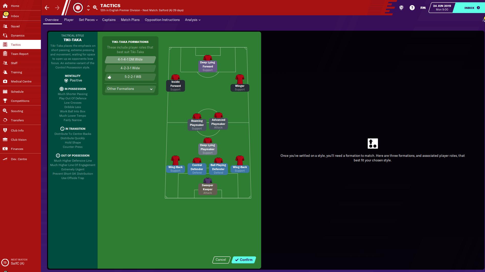 Tiki-taka es la táctica ideal de Man Utd en FM20