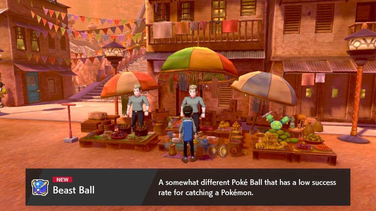 bola de bestia espada de pokemon, bola de bestia escudo de pokemon