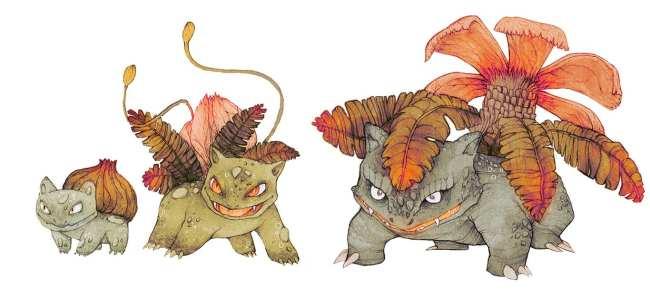 2. Bulbasaur, Ivysaur et Venusaur