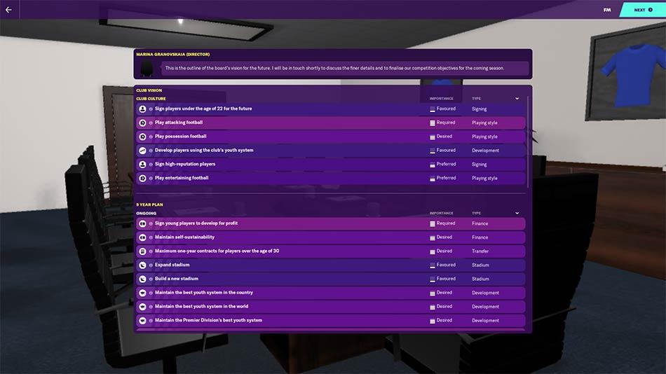 La junta del Chelsea tiene muchas tareas para ti en FM20