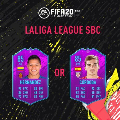 Tarjetas La Liga SBC en FIFA 20 FUT