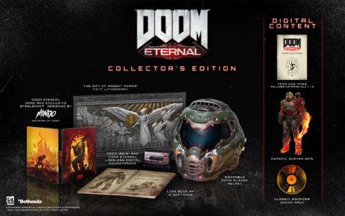 El paquete de la edición de coleccionista para Doom Eternal