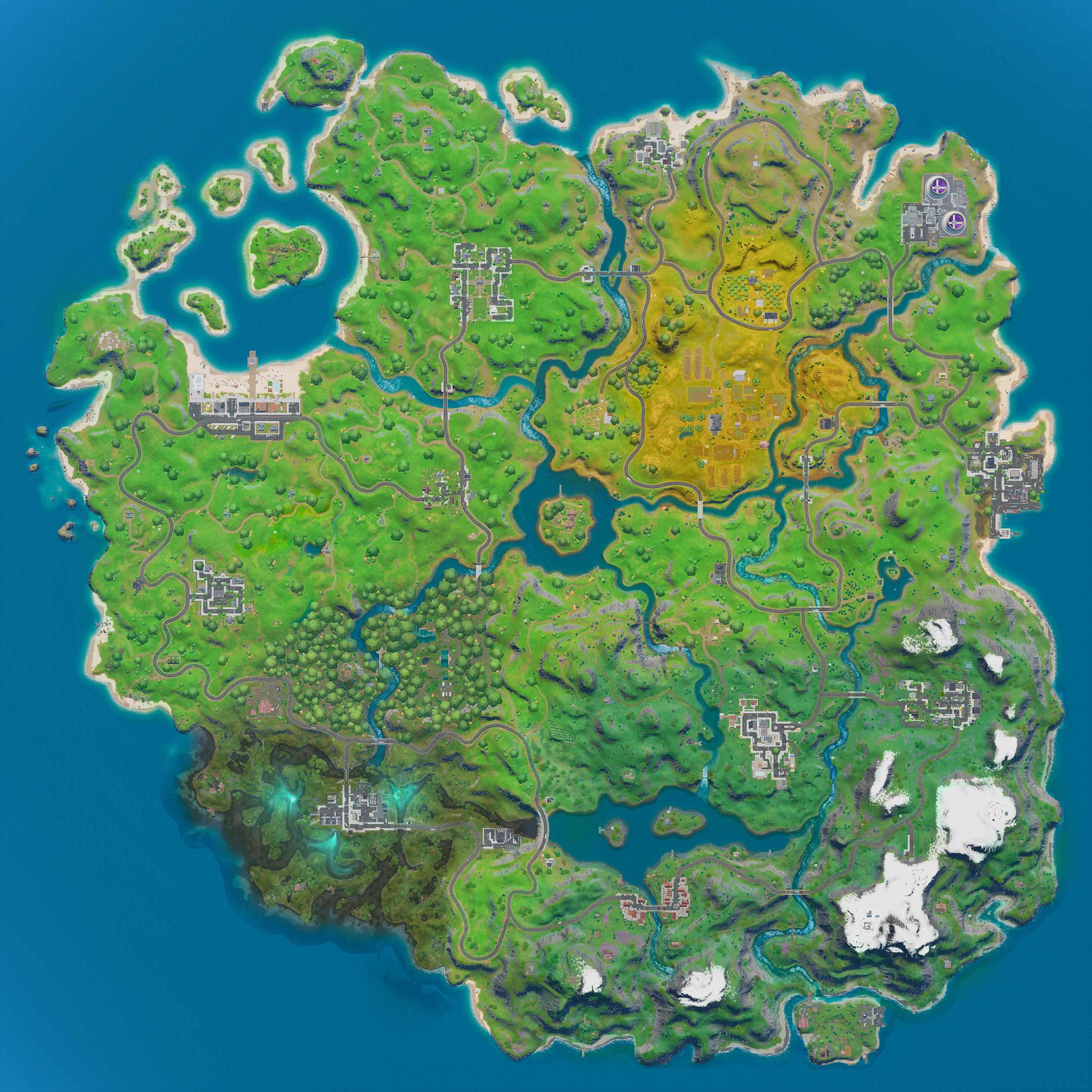 Fortnite capítulo 2 temporada 2 mapa