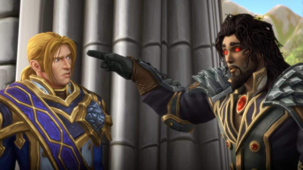 WoW Anduin Wrathion Finger Point