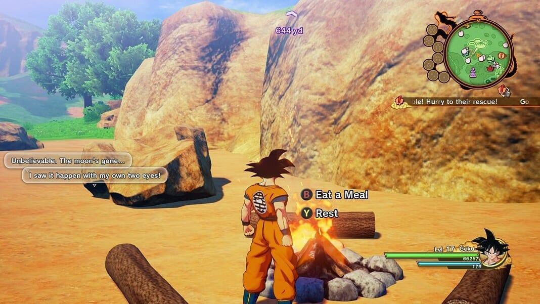 Dragon Ball Z Kararot, hacer comidas, comida