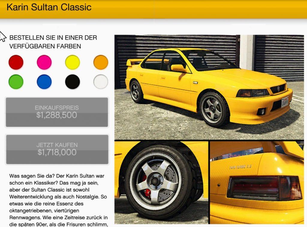 GTA Online Karin Sultan Classic