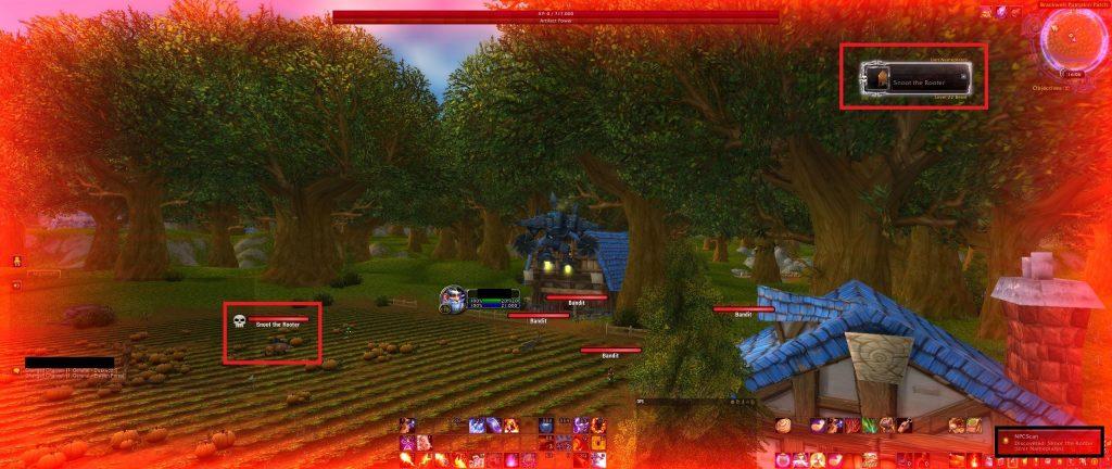Complementos de captura de pantalla de WoW NPCscan encontrados raros