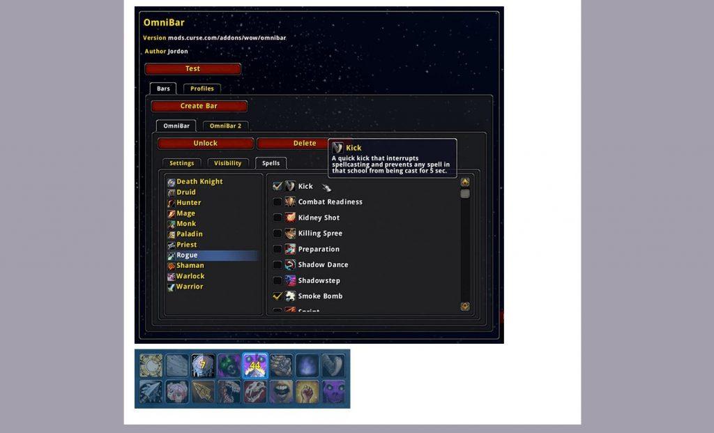 wow addons omnibar curse captura de pantalla
