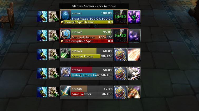 Complementos de captura de pantalla de WoW Gladius