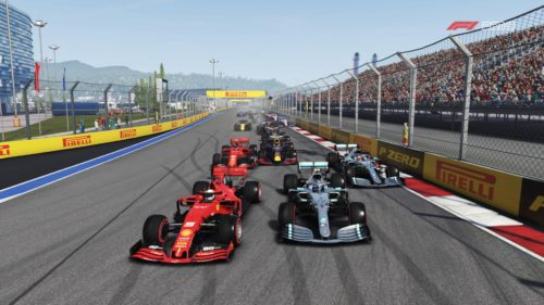 Un paquete apretado de autos en F1 2019