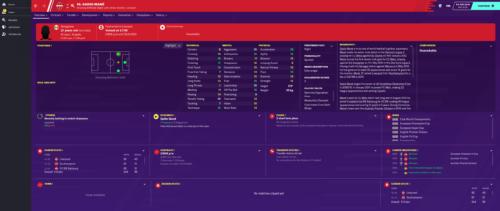 Mane inicia los atributos e información de Football Manager 2020.