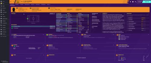 Patricio inicia los atributos e información de Football Manager 2020.