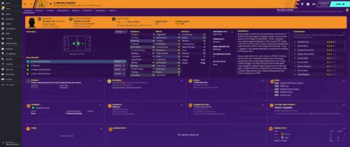 Jordao inicia los atributos e información de Football Manager 2020.