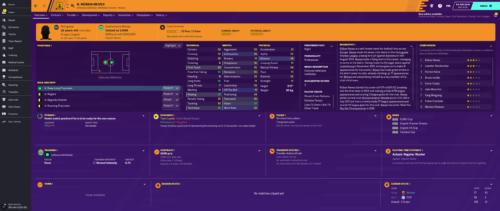 Neves comienza con los atributos e información de Football Manager 2020.