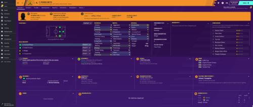 Neto inicia los atributos e información de Football Manager 2020.