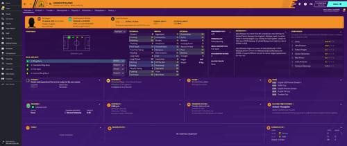 Los atributos e información iniciales de Football Manager 2020 de Kitolano.