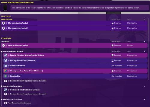 La visión del club de Man City en Football Manager 2020