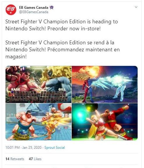 Interruptor de Street Fighter V