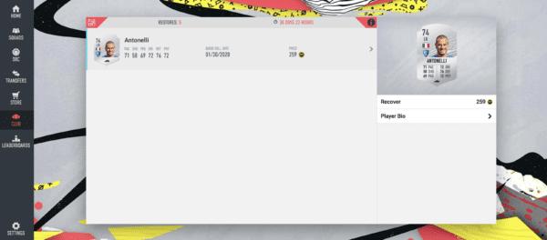 FIFA 20, recuperarse rápidamente vendido