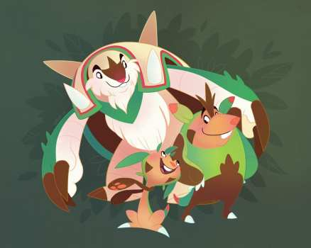 24. Chespin, Quilladin y Chesnaught