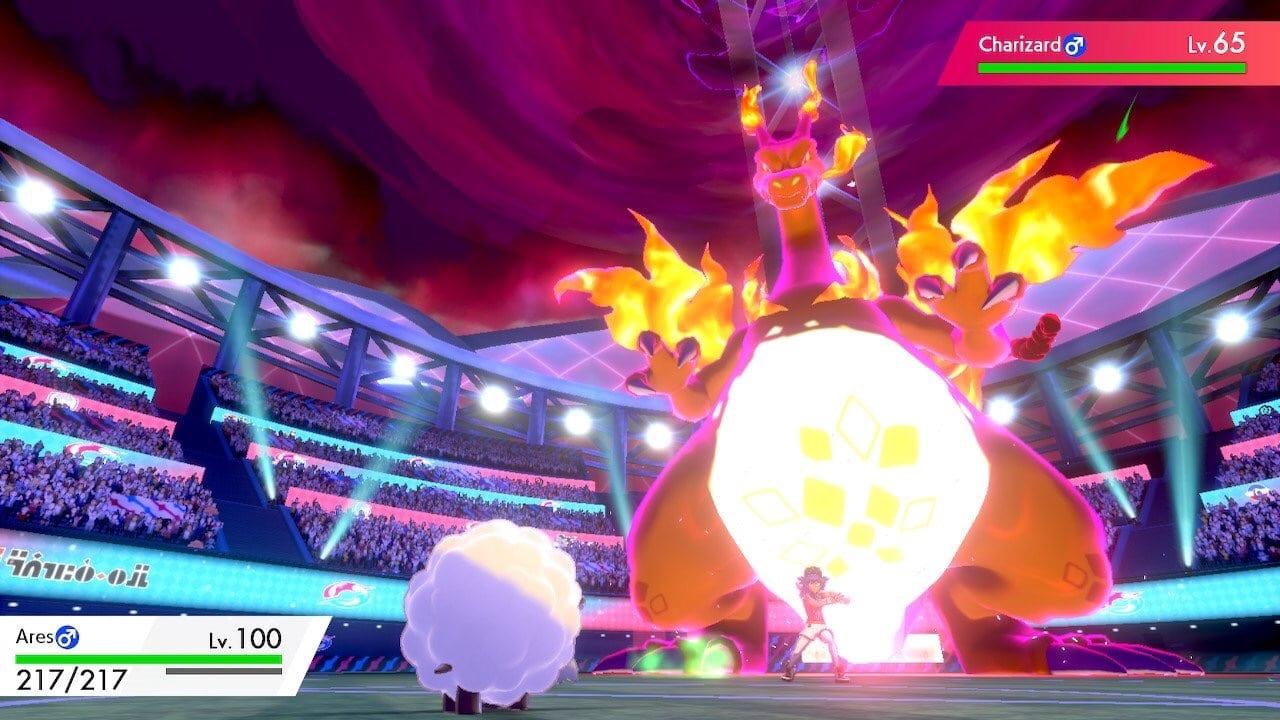 Espada y escudo de Pokémon, jugador de Wooloo, Charizard, copa de campeón