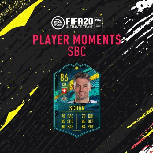 Tarjeta SBC de Fabian Schar's Player Moments