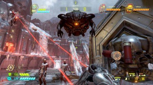 El modo de batalla de Doom Eternal enfrenta a dos demonios contra un asesino.