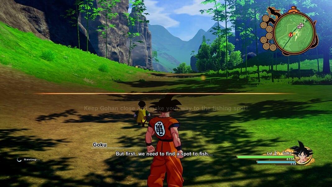 Dragon Ball Z Kakarot, guardar