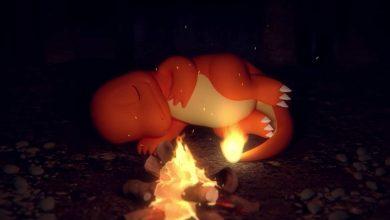 Photo of Este video oficial de Pokémon ASMR te permite ver a un Charmander durmiente junto a un fuego crepitante