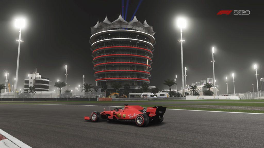 El Ferrari F1 2019 alrededor de Bahrein