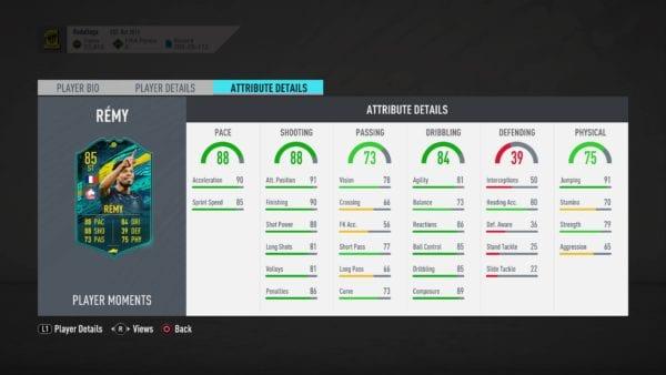 FIFA 20, momentos remy sbc