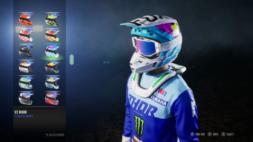 Opciones de personalización en Monster Energy Supercross 3