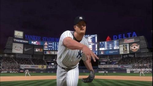 Un lanzador de los Yankees en MLB The Show 20