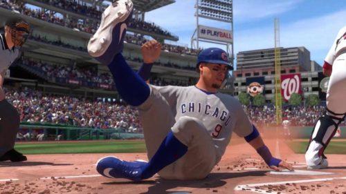 El jugador de los Cachorros se desliza a casa en MLB The Show 20