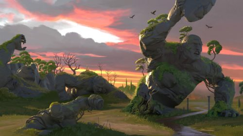 Increíbles estatuas de titanes en Gods & Monsters