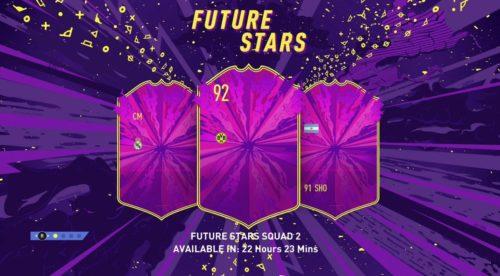 pantalla de carga de futuras estrellas