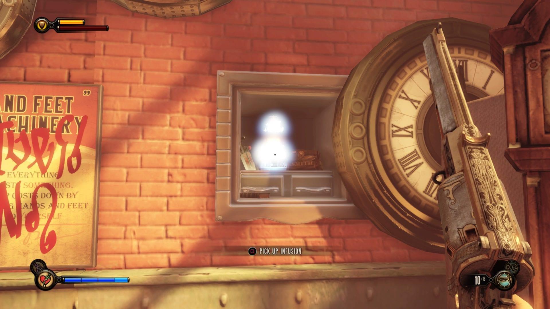 BioShock Infinite: todos los sitios de infusión