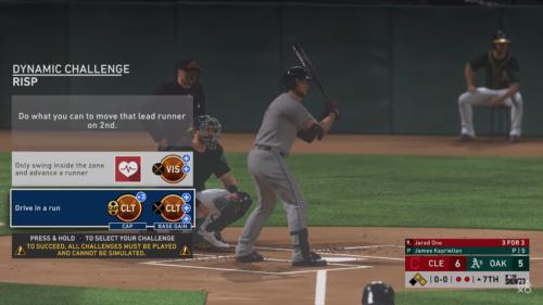 MLB 20 Road to The Show desafíos dinámicos RTTS