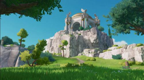 paisaje de monstruos de dioses