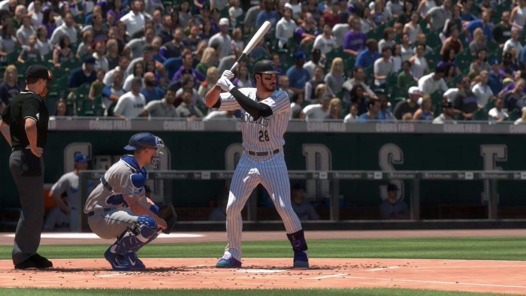 Nolan Arenado en el plato en MLB The Show 19