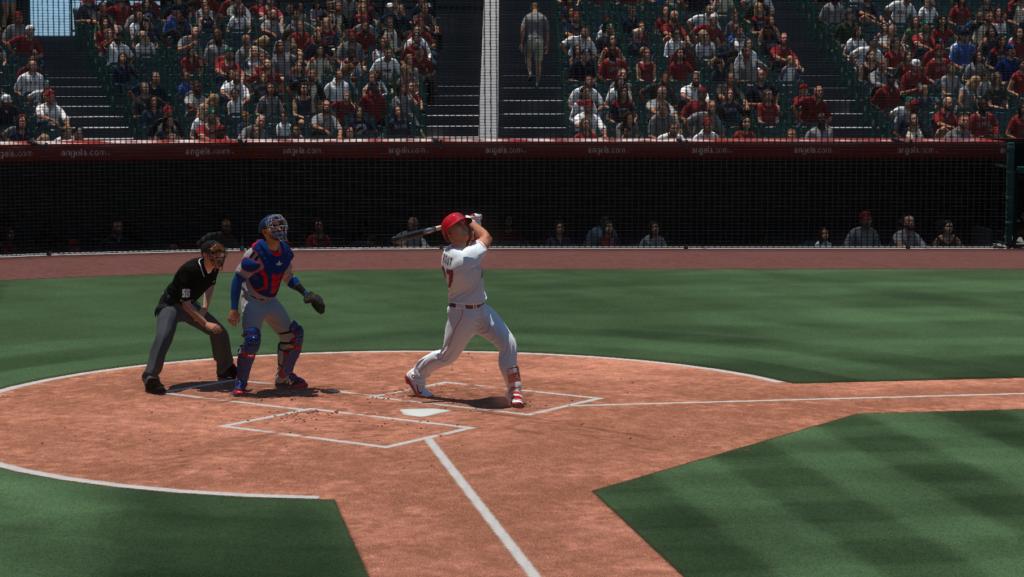 Mike Trout en el plato en MLB The Show 19