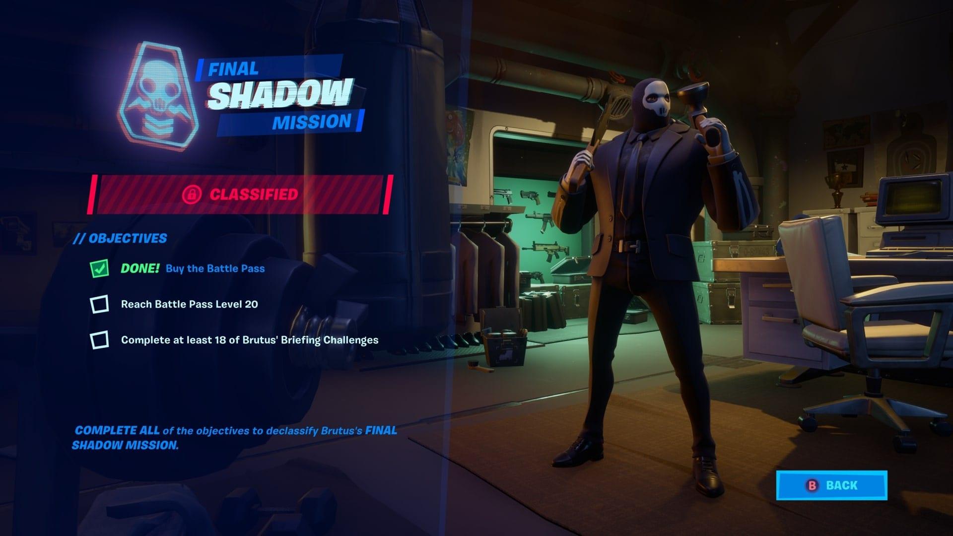 Estilos Fortnite Shadow y Ghost