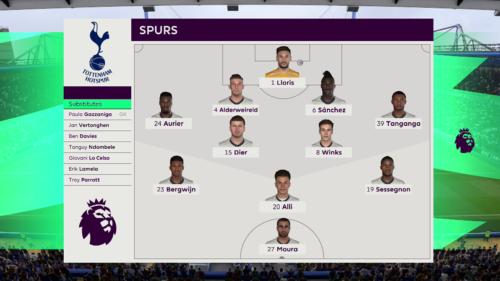 Línea de los Spurs Chelsea