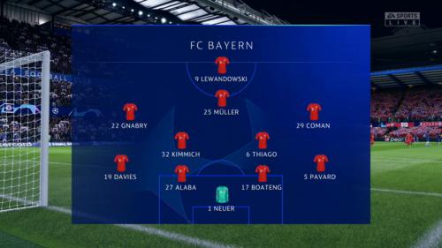 Alineación del Bayern vs Chelsea