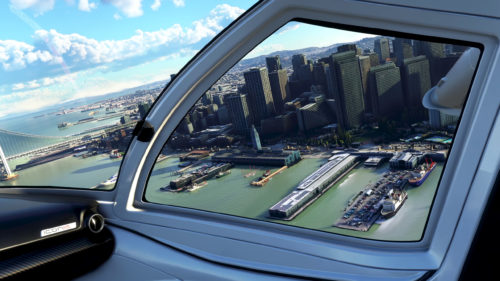 cabina de la ciudad de simulador de vuelo de microsoft