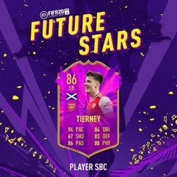 FIFA 20, futuras estrellas tierney sbc