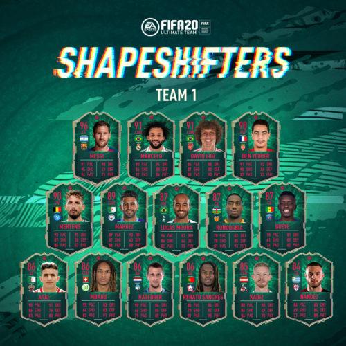 FIFA 20 cambiaformas equipo 1