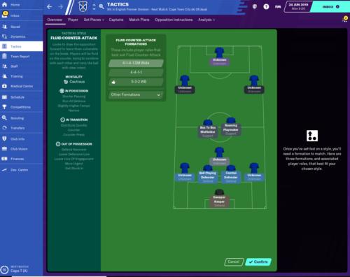 Tácticas y formación de Leicester City FM20.